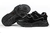 Женские кроссовки в стиле Navigator, кожа, текстиль, черные, 36р(23 см), в наличии:36,38,39,40