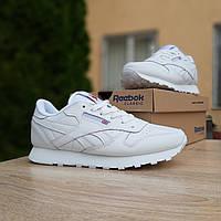 Женские кроссовки в стиле Reebok Classic, кожа, белые, 38р(24 см), последний размер