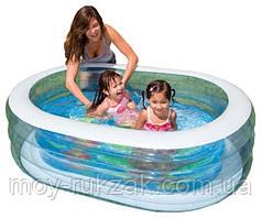 Детский надувной бассейн Intex, Нежность 57482, 163*107*46см
