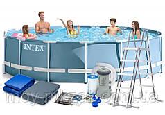 Intex 26726, каркасный бассейн  Prism frame pool, 457*122см + насос