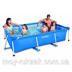 Intex 28272 (58981), каркасный бассейн Rectangular frame pool, 300*200*75см