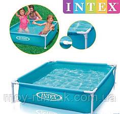 Intex 57173, детский каркасный бассейн Small Frame, 122*122*30см