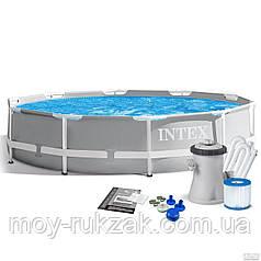 Бассейн каркасный круглый Intex PRISM FRAME POOL 26702 NP, насос и фильтр в комплекте, 305*76см