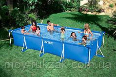 Бассейн каркасный прямоугольный Frame Pool, Intex 28273 NP, 450*220*84см
