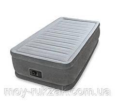 Кровать надувная Intex Твин с встроенным электрическим насосом, 64412, 191*99*46см