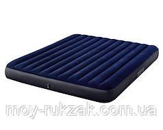 Матрас надувной Intex Classic Downy Airbed Fiber-Tech, 64755, 203*183*25см