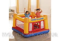 """Детский надувной игровой центр - батут, замок """"Playhouse"""" Intex 48260, 174*174*112см"""