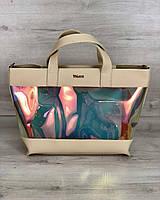 Женская сумка Welassie Амира 2-в-1 Бежевая (65-56217)
