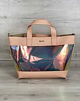 Женская сумка Welassie Амира 2-в-1 Пудровая (65-56218)