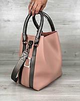 Молодежная женская сумка Welassie Леора Пудровая (65-57110)