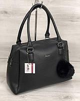 Женская сумка Welassie Агата Черная (65-55904)