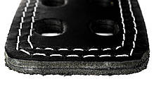 Пояс кожаный атлетический 60/100 мм, карабин, двухслойный, фото 2