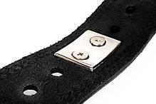 Пояс кожаный атлетический 60/100 мм, карабин, двухслойный, фото 3
