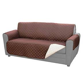 Покрывало на диван Adenki двустороннее резинки для крепления Коричневый (46-891711487), фото 2