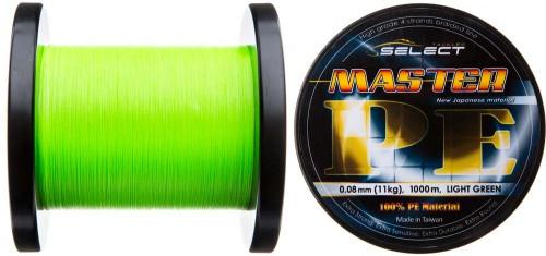 Шнур Select Master PE 1000m (салат.) 0.18мм 21кг