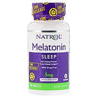 Мелатонин Повышенной Силы Действия 5 мг, Melatonin, Natrol, 100 таблеток