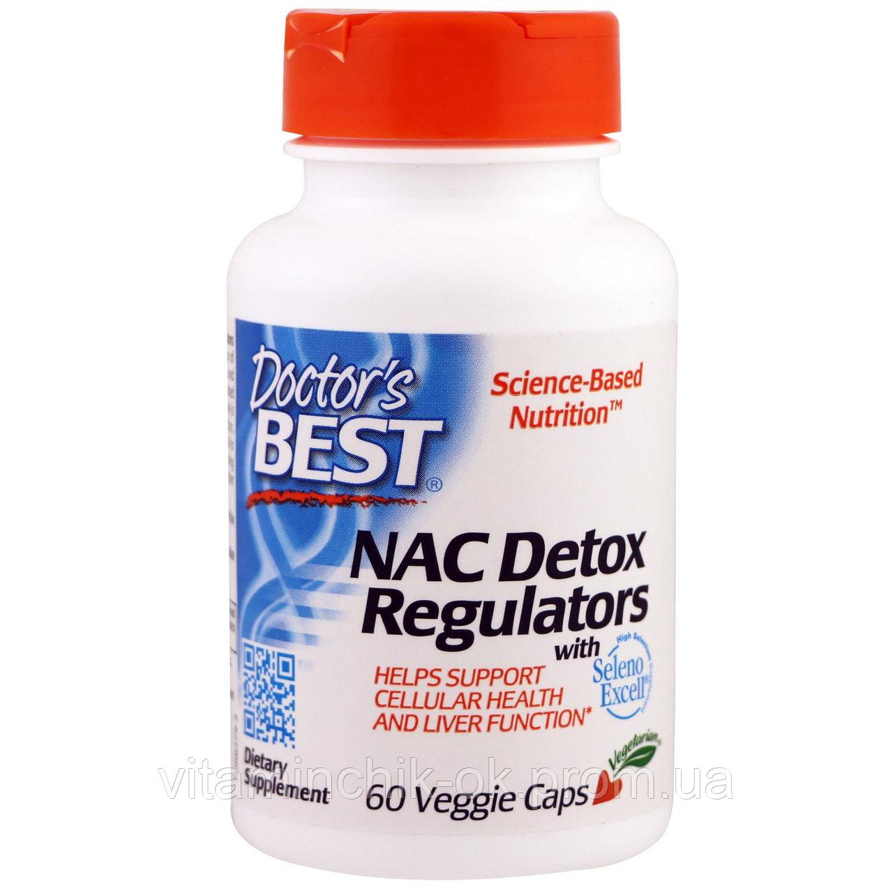 NAC (N-Ацетил-L-Цистеин) Детоксичные Регуляторы, Seleno Excell, Doctor's Best, 60 гелевых капсул