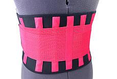 Пояс-корсет для поддержки спины ONHILLSPORT (черно-малиновый), фото 2