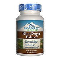 Комплекс для Нормализации Сахара в Крови Blood Sugar Balance, RidgeCrest Herbals, 120 гелевых капсул
