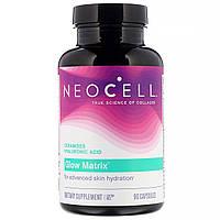 Витаминный комплекс для увлажнения кожи, с Гиалуроновой кислотой и Керамидами, Neocell, Glow Matrix, 90 капсул