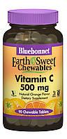 Bluebonnet Nutrition, Earth Sweet Chewables, Витамин С 500мг, Вкус Апельсина, 90 жевательных таблеток
