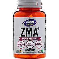 Восстановление после тренировки, ЗМА, Now Foods, Sports, ZMA, 90 капсул