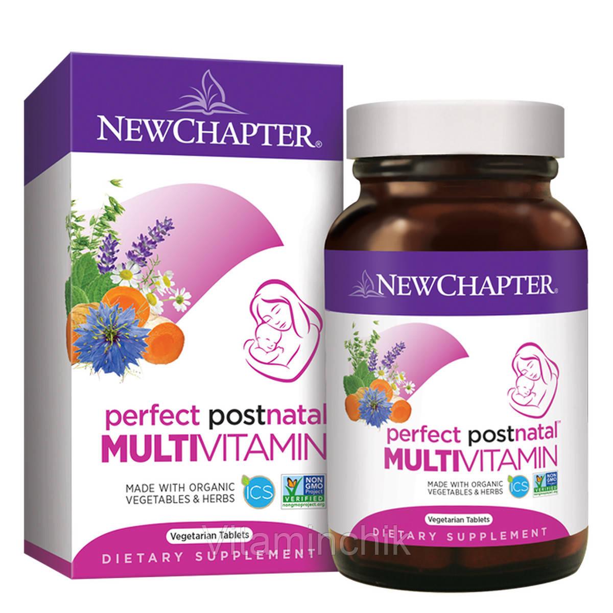 Мультивитамины для Женщин в Послеродовой Период, Perfect Postnatal, New Chapter, 48 таблеток
