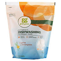 Grab Green, Моющее средство для автоматических посудомоечных машин в таблетках, без запаха, 60 загрузок, 1080 г (2 фунта, 6 унций)