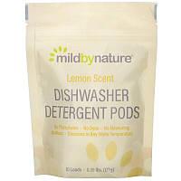 Mild By Nature, Средство для мытья посуды в посудомоечной машине, с ароматом лимона, 10капсул, 0,39фунта, 177г (6,24унции)