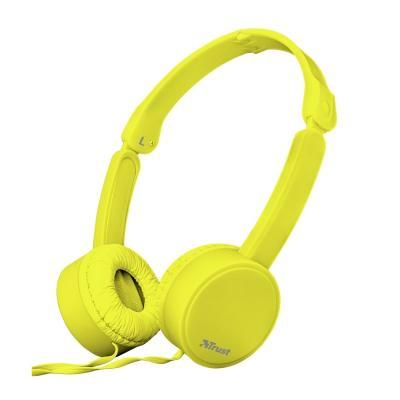 Наушники Trust Nano On-Ear Mic Yellow (23106)