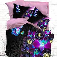 Красивое постельное белье с орхидеями Турция, Евро