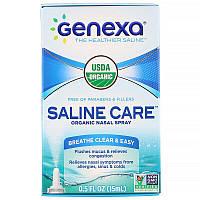 Genexa, Saline Care, Organic Nasal Spray, 0.5 fl oz (15 ml)
