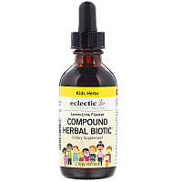 Eclectic Institute, Kids Herbs, Compound Herbal Biotic, Lemon-Lime Flavored, 2 fl oz (60 ml)