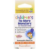 NatraBio, Children's No More Monsters, Yummy Banana Natural Flavor, 125 Mini Tablets