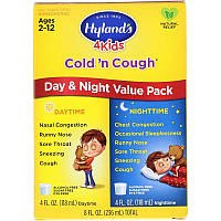 Hyland's, 4 Kids, Cold 'n Cough, Day & Night Value Pack, Age 2-12, 4 fl oz (118 ml) Each
