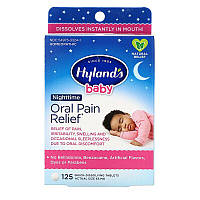 Hyland's, Baby, Oral Pain Relief Nighttime, 125 Quick-Dissolving Tablets