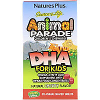 Nature's Plus, Source of Life, Animal Parade, DHA for Kids, Children's Chewable, Natural Cherry Flavor, 90 Animal-Shaped Tablets