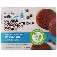 UpSpring, Milkflow, Печенье для улучшения лактации, двойная шоколадная крошка, 10 пакетиков по 2 печенья