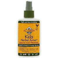 All Terrain, Растительный защитный спрей для детей Натуральное средство от комаров и др.(120 мл)
