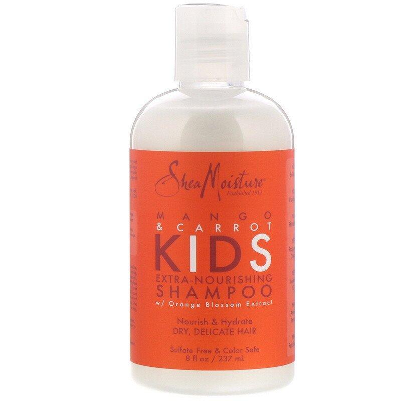 SheaMoisture, Kids Extra-Nourishing Shampoo, Mango & Carrot, 8 fl oz (237 ml)
