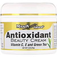 Mason Natural, Крем для сохранения красоты с антиоксидантами с витаминами C, E и зеленым чаем, 2 унц. (57 г)