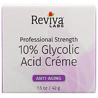 Reviva Labs, Крем с гликолевой кислотой 10%, омолаживающий, 42г (1,5унции)