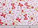 Коттон рисунок яркий бабочки, коралловый, фото 2