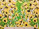 Коттон сатин принт цветы на поляне, желтый, фото 2