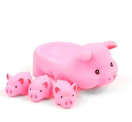 Игрушка для ванной ZT8891 Уточка, пищалка (Свинки)