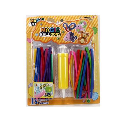 Шарики надувные MK2250 для моделирования,30шт,насос,микс цветов,на листе,23-2,5-3,5см