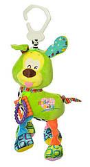 Подвеска на коляску H168096-4A (Красная) собачка, 38см, плюш, 4цвета, в кульке, 20-15-7см (Зелёная)