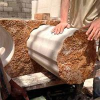 Порезка камня канатной пилой