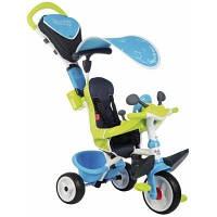 Детский велосипед Smoby Беби Драйвер металлический с козырьком и багажником (741200)