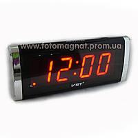 Часы сетевые VST 730-1 красные настольные(электронные цифровые часы)